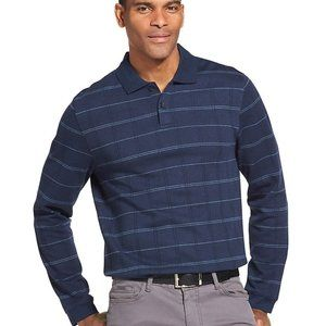 Mens Van Heusen Classic-Fit Heathered Polo Size L